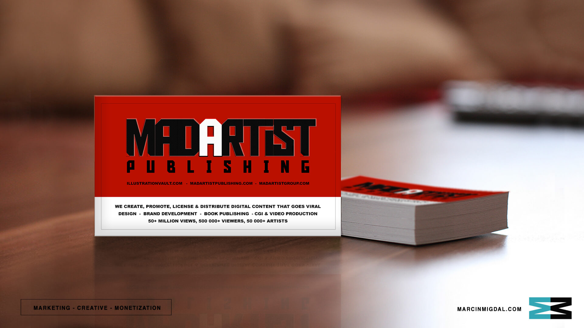 Business card design logo design creative director marketing director marcin migdal custom business reheart Images