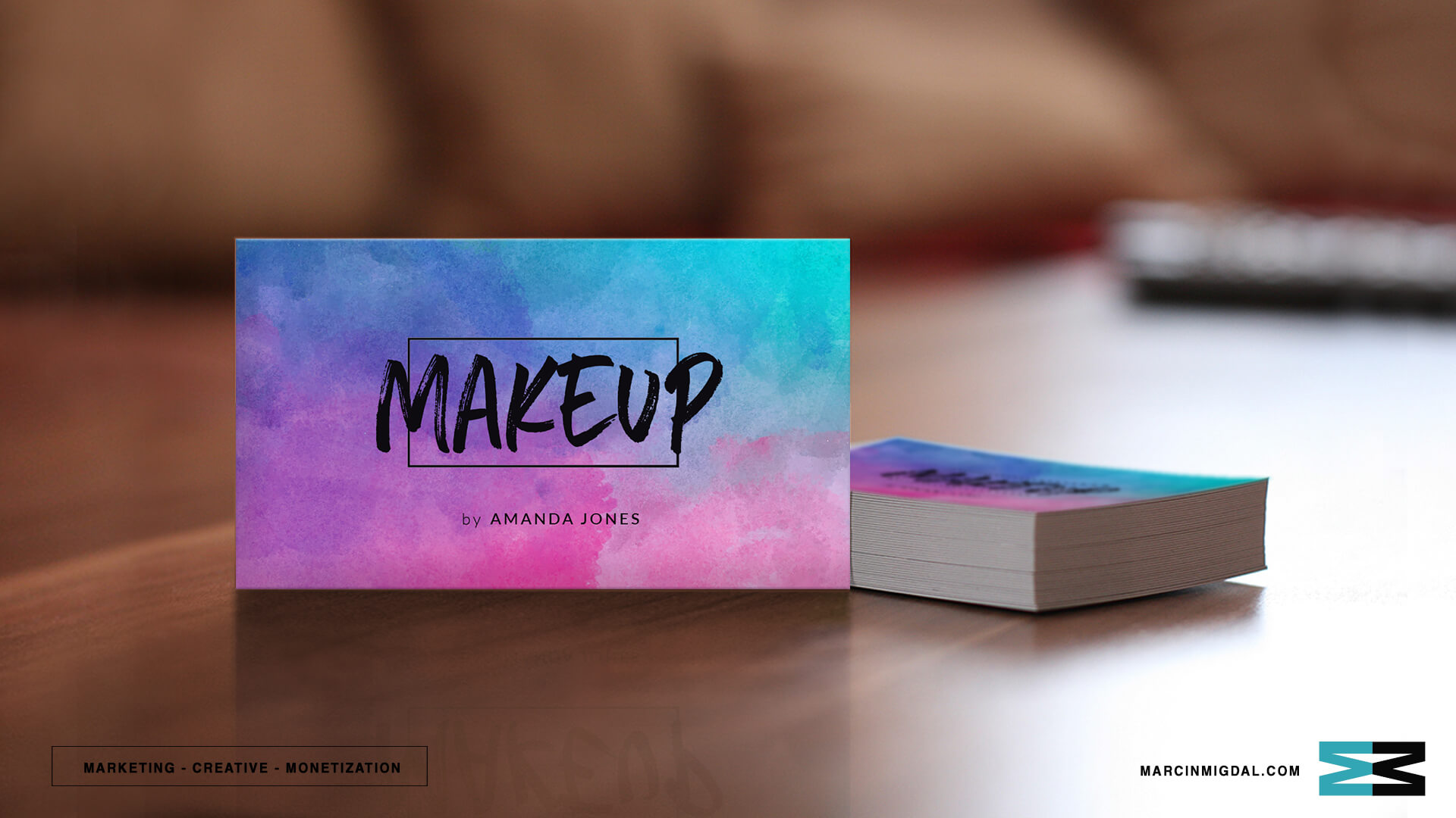 make up business card